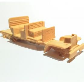 """Miniature de camion - MAN 5T GL KAT1 CAMION TANK CAMOUFLAGE """"BUNDESWEH"""