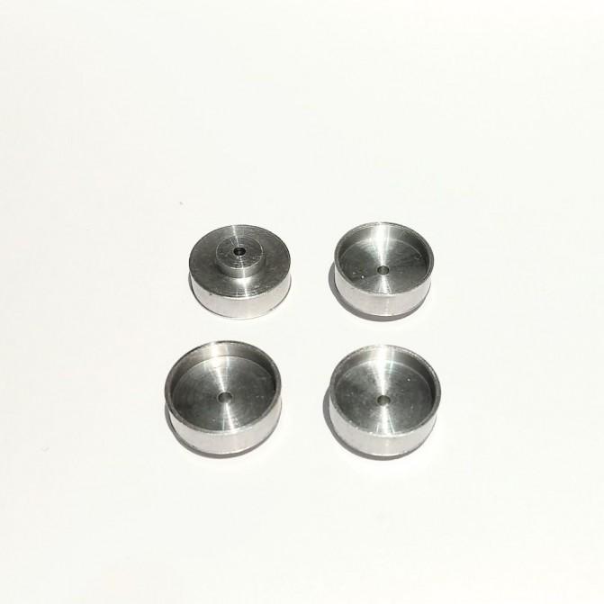 4 jantes - Aluminium - ø12.50 X 4 mm - CPC Production -B131Dp