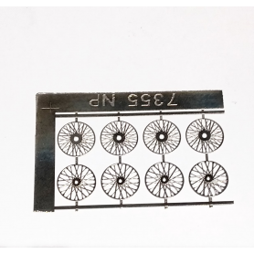 8 Rayons ø 11.50 - Photodecoupe - Pour 4 roues