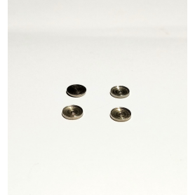 4 ø5.50 mm headlight bases for 5mm pellets - Nickel-plated brass - CPC