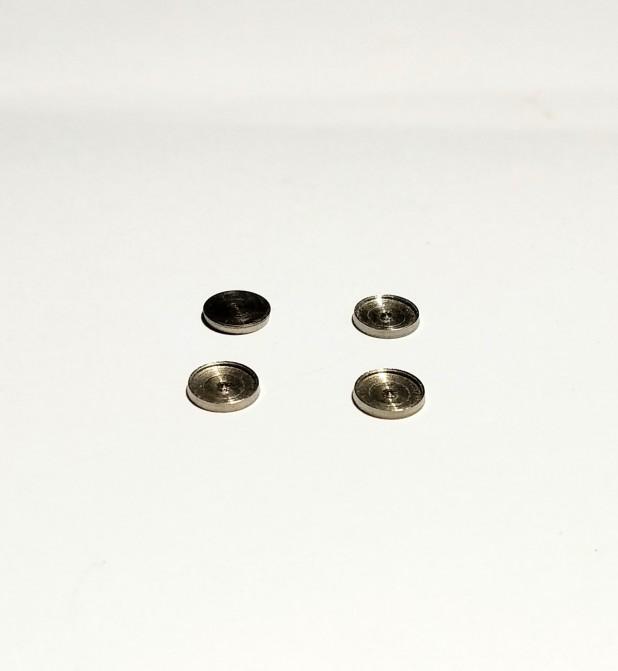 4 bases de phares ø5.50 mm pour pastilles de 5mm - Laiton Nickelé - CPC