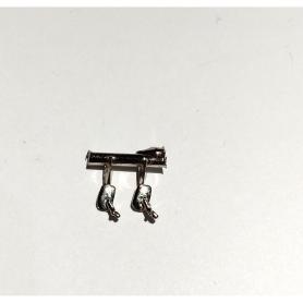 Paire de rétroviseurs rectangulaires - 4X2.50 mm - 1:43