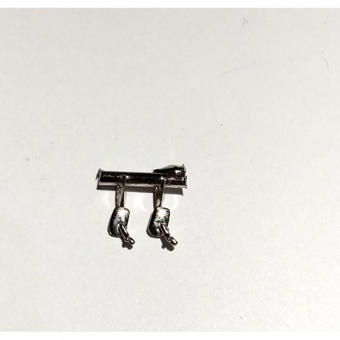 2 rétroviseurs rectangulaires (même côté) - 4X2.50 mm - 1:43