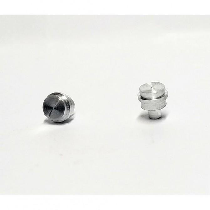 2 Bouchons en aluminium - ø4.50mm - CPC Production