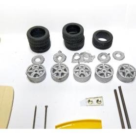 4 roues complètes en aluminium et photodécoupe - OPEL - Ech. 1:43