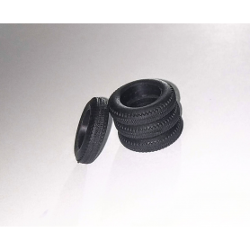 Flexible tires per 4 - interior ø 10.20mm - Scale. 1:43