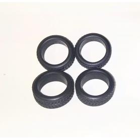 Flexible tires per 4 - interior ø 10.50mm - Sample 1:43