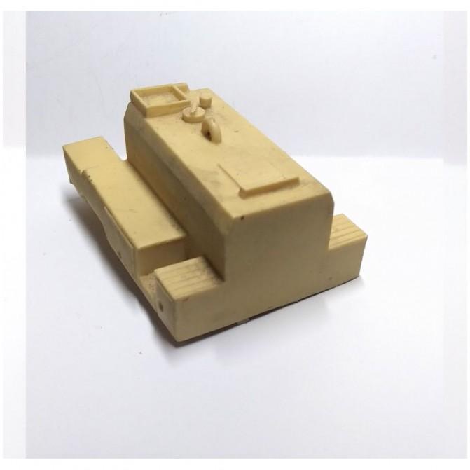 Ligne complète échappement - Long. 8.5 cm - Ech. 1/43ème - White Metal
