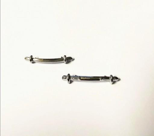 Peugeot 203 - Pare Chocs AV/AR - White Metal - Ech 1/43