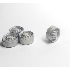 4 jantes pour fourgon type jumper - White Metal - 1:43