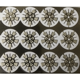 4 photoetched rims - Ø 8.40 mm - Scale 1:43