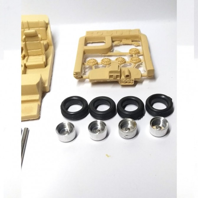 Set of 10 aluminum wheels ø11.20 X 8.40mm - CPC PRODUCTION