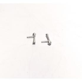 2 Klaxons en white metal brut - Ech 1:43 - Environ 10.30 mm