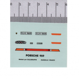 Décalcomanie - Porsche 959 - 1:43