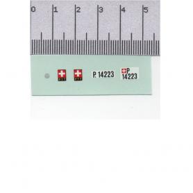 Décalcomanie - Plaques Suisse + Logo VW - 1:43