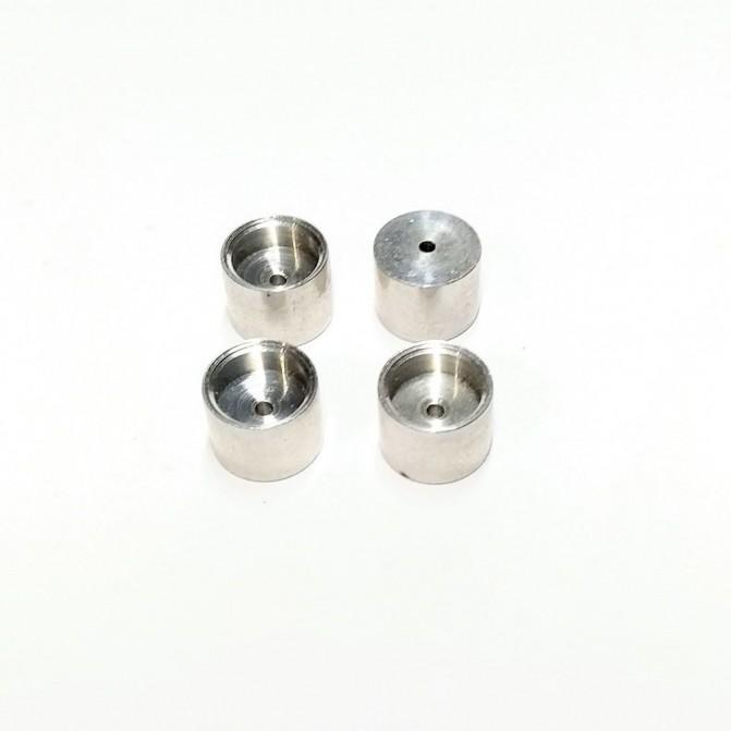 4 aluminum wheels + White Metal inserts - ø9.20 mm