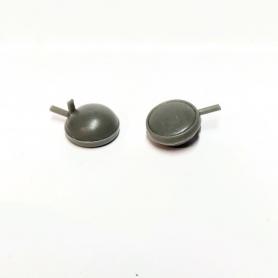 2 Longues Portée ø12.40 mm - Résine - 1:18 - Artisans43
