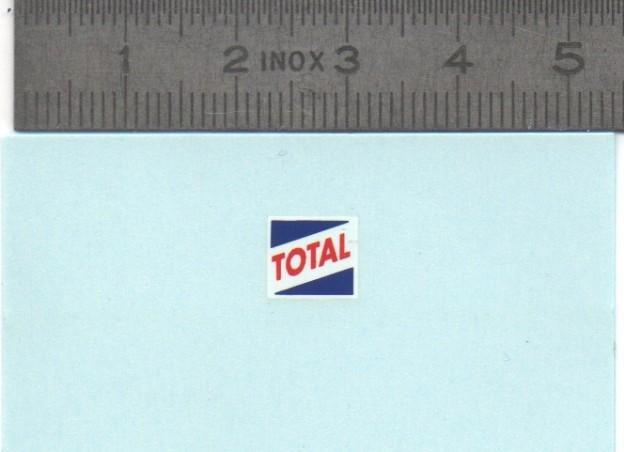 Décalcomanie - TOTAL - 8X7mm - Ech. 1:43 - Par 2
