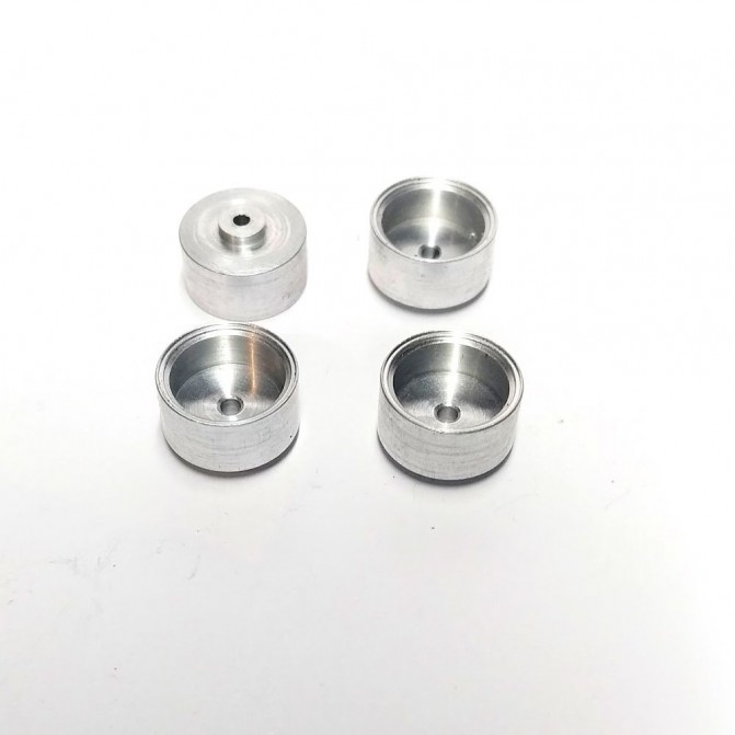 4 Ecrous en laiton - 6 pans de 2.20 mm - Chromé