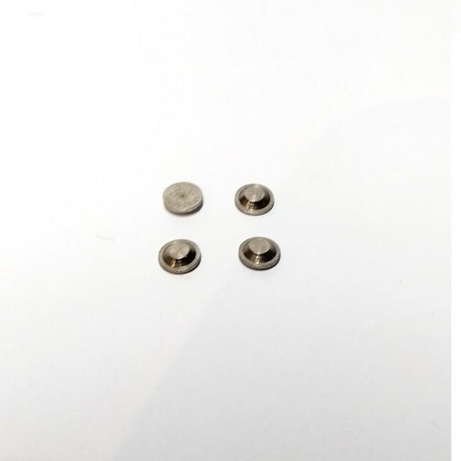 Embase ø4 en laiton traité gris - Ech. 1:43 - X4