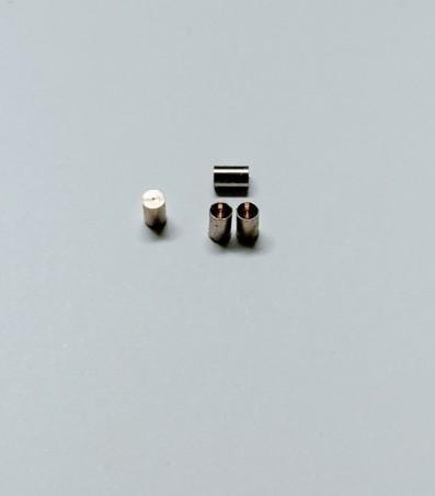 Sortie échappement ø2 X 3 avec pré-trou  en laiton chromé - X4