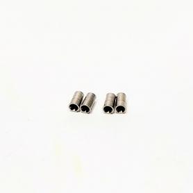 Sortie échappement ø2 X 4 mm avec pré-trou en laiton - Lot de 4 - CPC