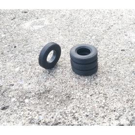 Flexible tires per 4 - interior ø 12.50mm - Scale. 1:43