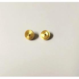 10 Brass hubs - ø5.80 threaded - Model making - CPC