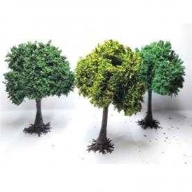 Diorama : 3 PLATANES Assortis 9 cm