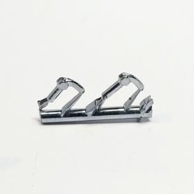 2 poignées de portière - Long. 4.30mm - White Metal - 1:43