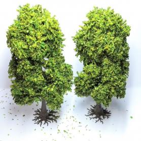 "Diorama - 2 arbres ""Charmes"" - 13cm"