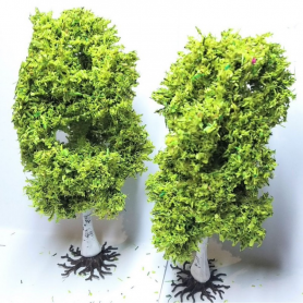 "Diorama - 2 arbres ""Bouleaux"" - 13 cm"
