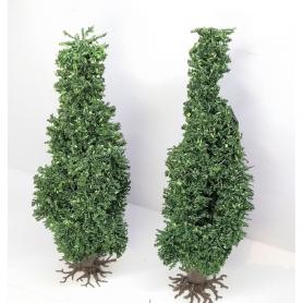 """Diorama - 2 arbres """"Peupliers"""" - 13cm"""
