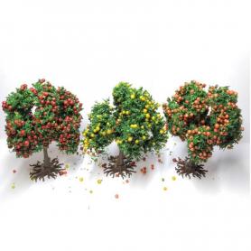 Diorama - 3 arbres Fruitiers - 6 cm