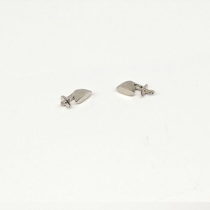 Rétroviseurs California - White Metal Chromé - 1:43 - MF Creation