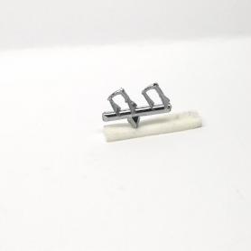 Poignées de porte - Longueur 3.20 mm - White Metal - 1:43