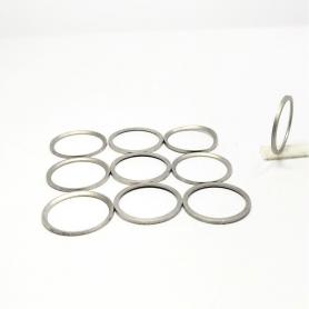 """10 bagues """"forme"""" - Laiton traité aspect Mat - ø 11,10 mm X 0.60 mm - CPC Production"""
