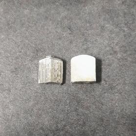 White Metal radiator - Width 12 mm - Scale 1:43