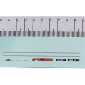 Echelle en White Metal - 90 mm X Larg 8.80 mm - Ech 1:43