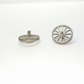 2 roues ø14.20 pour dévidoir avec axe - White Metal - CPC Production