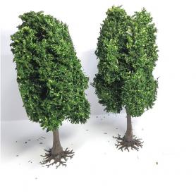 """Diorama - 2 arbres """"Chênes"""" - 13cm"""