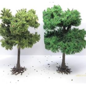 "Diorama - 2 arbres "" Pin d'Autriche"" - 12 cm"