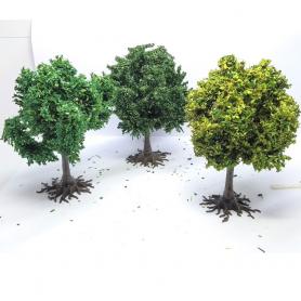 """Diorama - 3 arbres """" Platanes """" - 6 cm"""