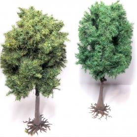"""Diorama - 2 arbres """" Pin des Landes """" - 12 cm"""
