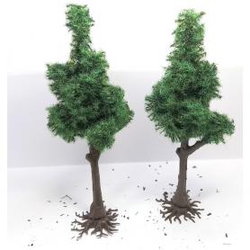 "Diorama - 2 arbres ""Pin Sylvestre"" - 12 cm"