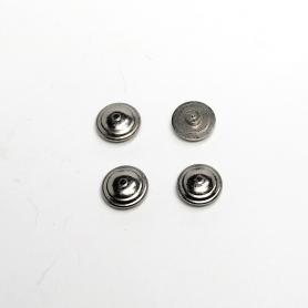 4 Inserts Pour Centre De Roue - Laiton + Nickelage - Ø6 Mm - CPC