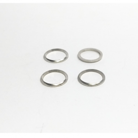 """4 bagues """"Forme"""" ø7.20 X 0.70 mm - Laiton Nickelé - CPC Production"""