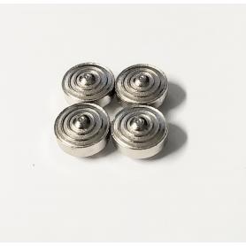 4 Jantes en white metal - BENTLEY Cabriolet Gurney Nutting - Ech. 1:43