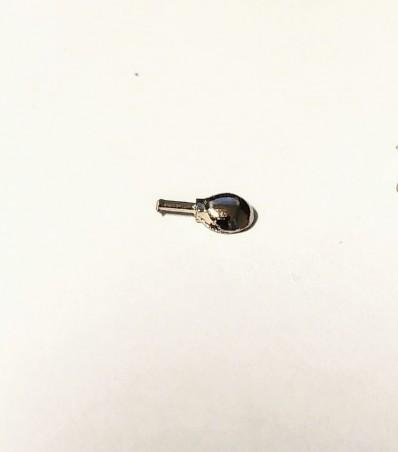 Phares X2 pour pastilles de Ø5 mm - Ech. 1:43 - Metal blanc