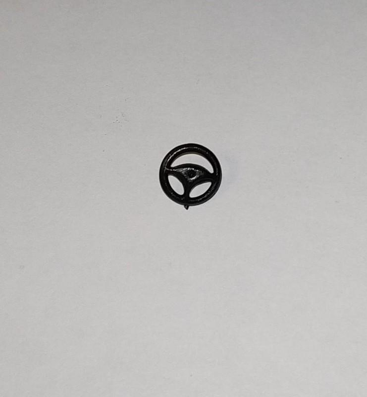 Volant en résine  ø8.30mm - Ech 1:43 - Noir